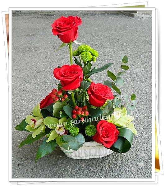 Aranjamente florale-trandafiri-orhidee.8540