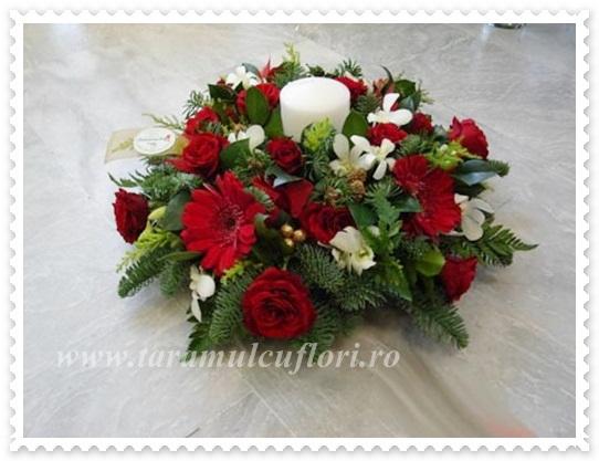 Aranjamente iarna din brad si flori.0750
