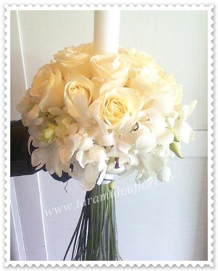 Lumanari nunta din trandafiri si dendrobium.173