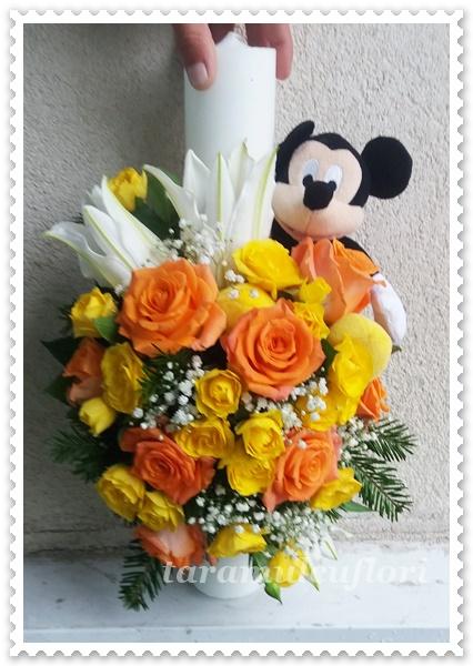 Lumanari de botez scurte cu Mickey Mouse 4549