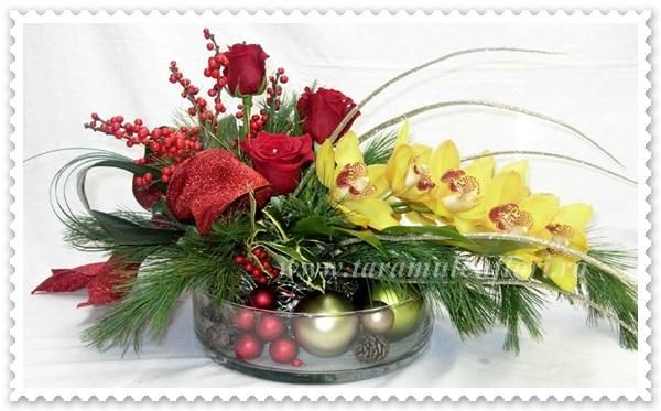 Aranjamente florale de iarna.037