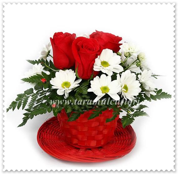 Cosuri cu trandafiri si crizantema kass.531