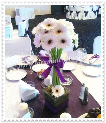 Aranjamente florale din gerbera.