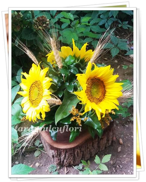 Aranjamente Florale Mese Cu Floarea Soarelui Si Spice