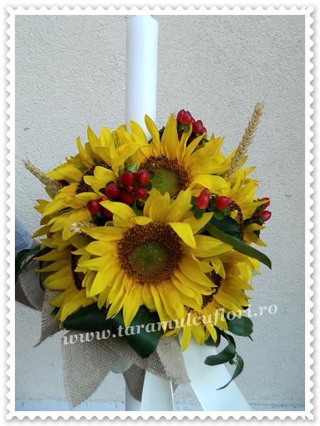 Lumanari de botez din floarea soarelui.0226