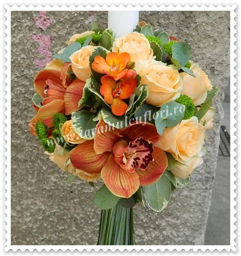 Lumanari nunta trandafiri orhidee frezii 5699