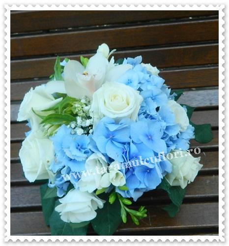 Aranjamente florale hortensie,lisianthus,orhidee.6036