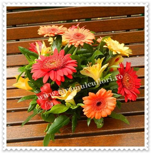 Aranjamente florale mese din gerbera.6351