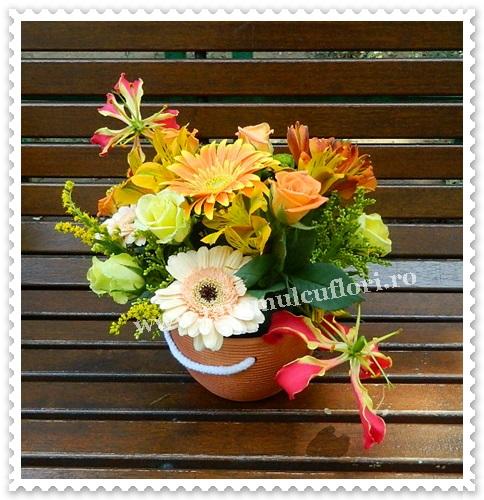 Aranjamente florale.Cosuri cu flori.7014