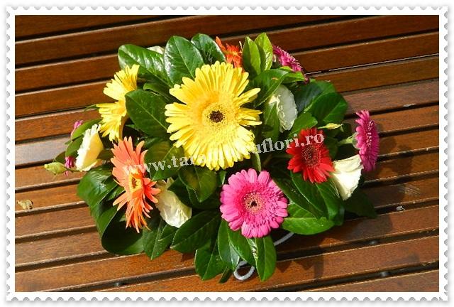 Aranjamente florale din gerbera.7089