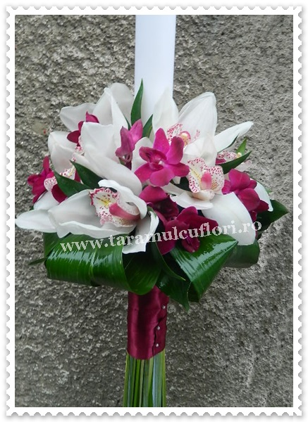 Lumanari de botez din orhidee.7691