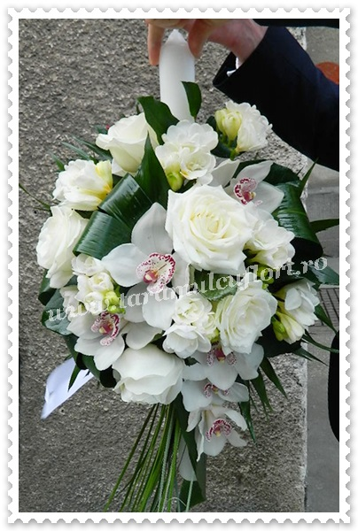 Lumanari nunta-orhidee si trandafiri.8531