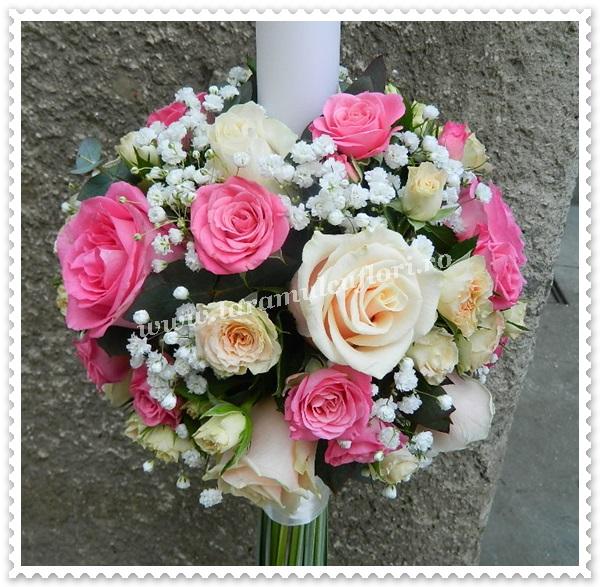 Lumanari nunta trandafiri si miniroze.8597