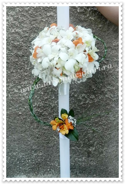Lumanari de nunta orhidee.8923