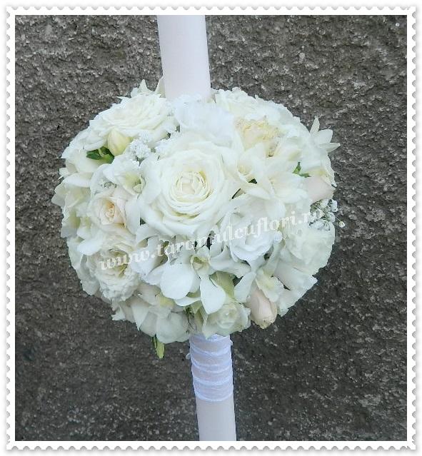 Lumanari de nunta trandafiri frezii orhidee.9149