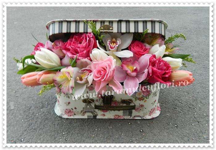 Cutii cu flori de primavara.9616