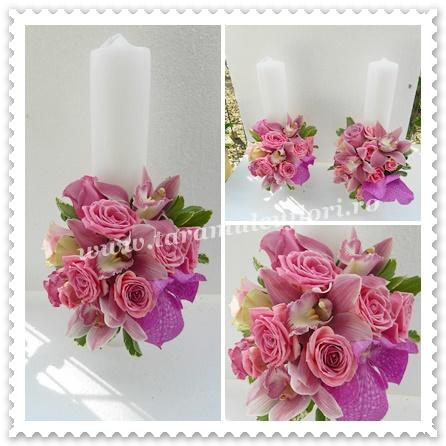 Lumanari nunta scurte vanda,trandafiri,orhidee.9822