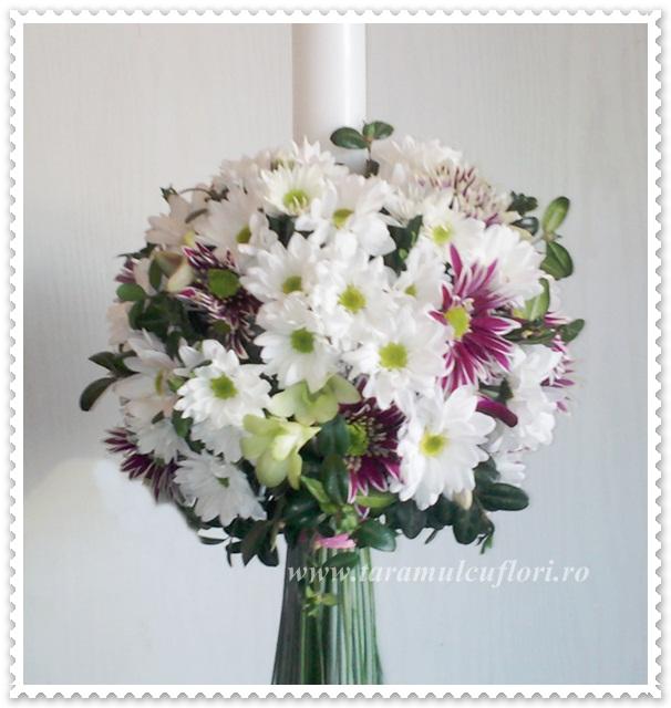 Lumanari de nunta crizantema margaret.0456