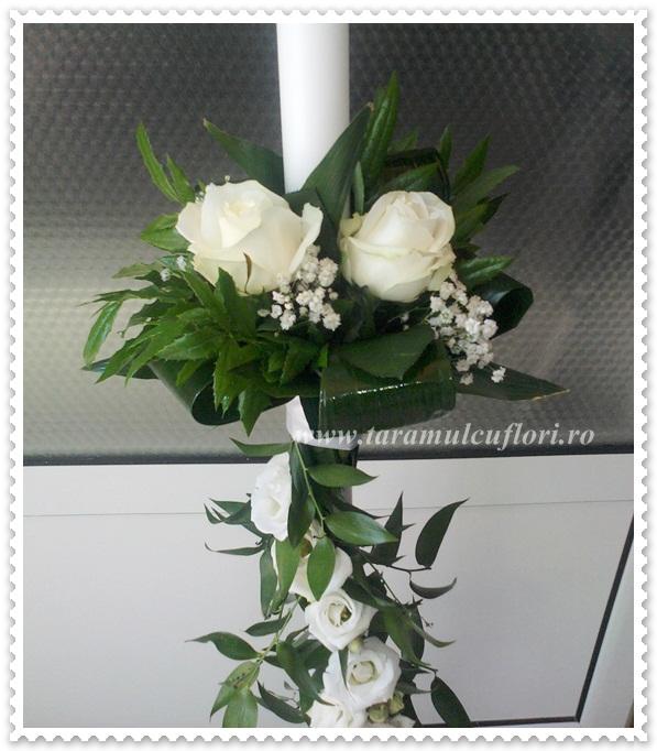 Lumanari nunta din trandafiri si lisianthus.502