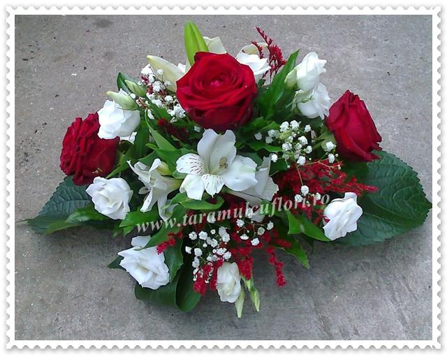 Aranjamente florale,crini,lisiantus,trandafiri 1487