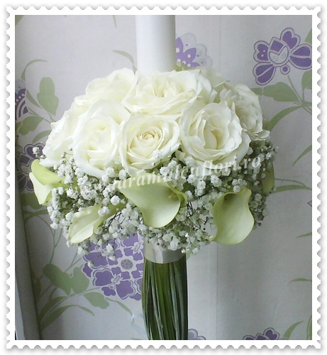 Lumanari nunta din cale si trandafiri.0141