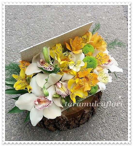 Carte decorativa cu flori.0432