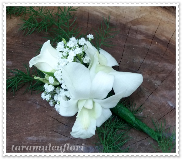 Cocarde din miniroze si orhidee.2274