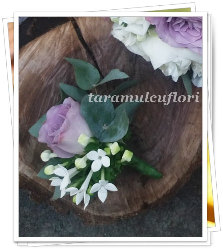 Cocarde  invitati din trandafiri si bouvardia.0457