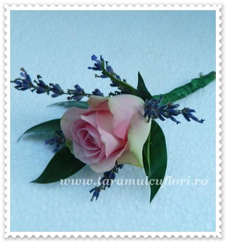 Cocarde din trandafiri si lavanda.2272