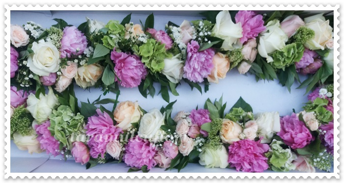 Aranjamente florale cristelnita.Ghirlande botez.2550
