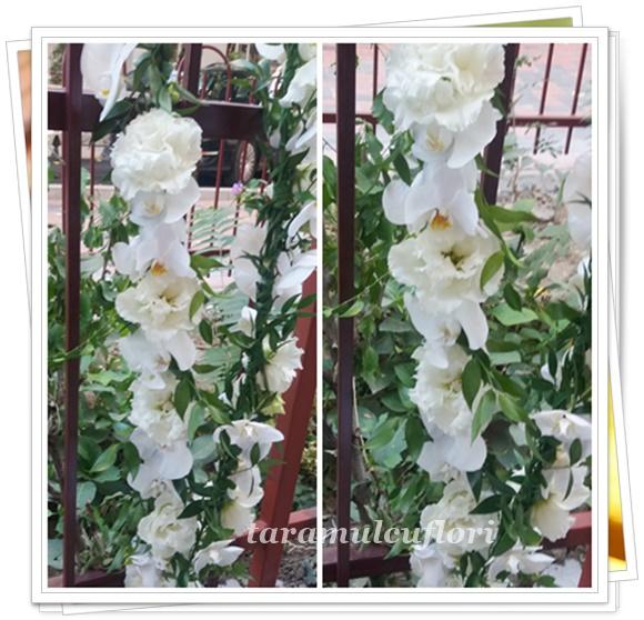 Aranjamente cristelnita din orhidee si lisianthus.0425