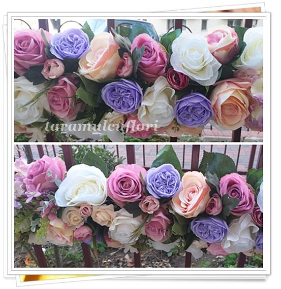 Aranjamente cristelnita din flori artificiale.2733