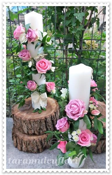 Pachete flori nunta-trandafiri si miniroze.055